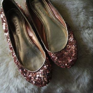 Rose Gold Sequin Flats